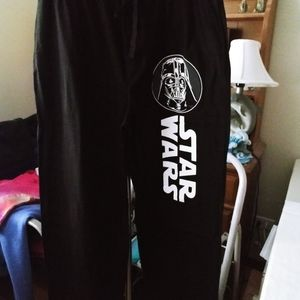 Black & white Darth Vader sweatpants